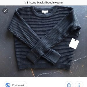 Ribbed black sweater